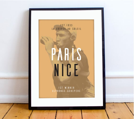 Image of Alphonse at Paris Nice print - A4 & A3