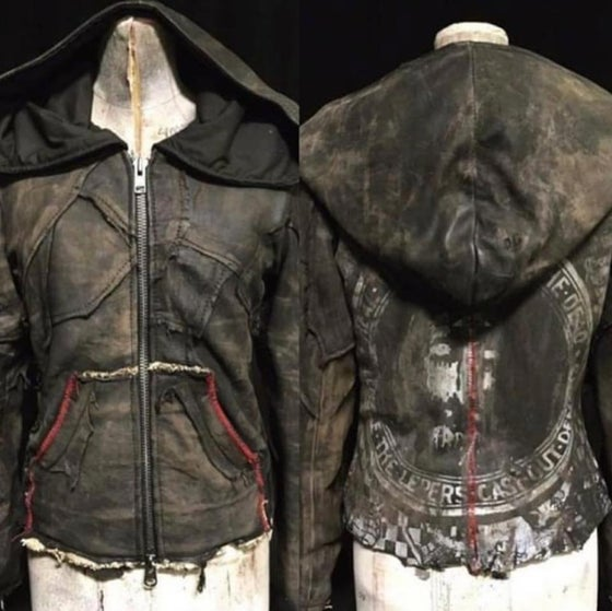 Image of Old Soul Leather Hoodie