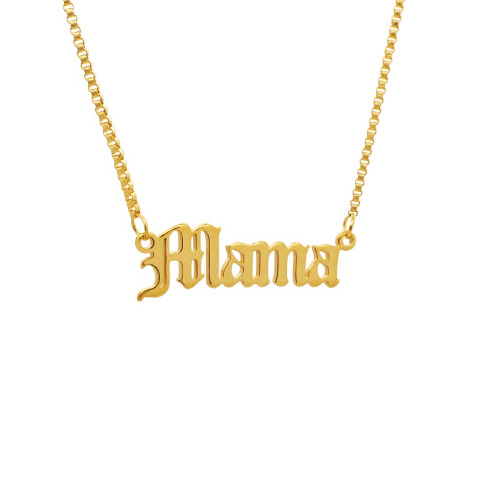 Image of Gold 'Mama' Script Necklace