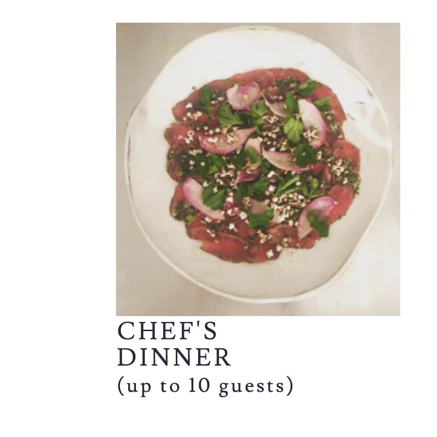 Image of A custom-crafted 4-course dinner for up to 10 guests