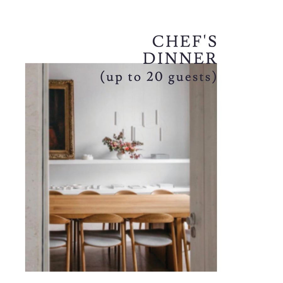 Image of A custom-crafted 4-course dinner for up to 20 guests