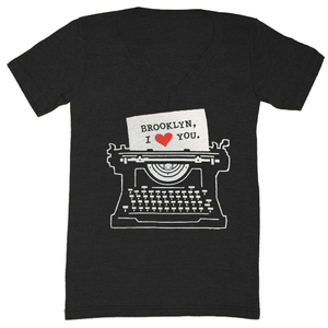 Image of Brooklyn Typewriter V-Neck