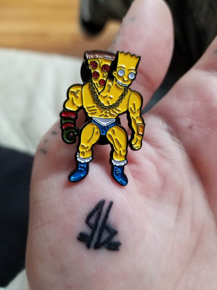 Image of TWO RAD COWABUNGA BART PIN