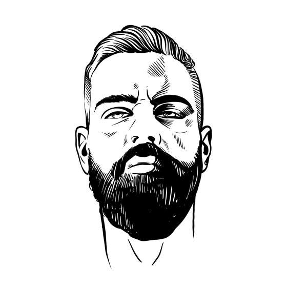 Image of Custom Black & White Selfie Portrait