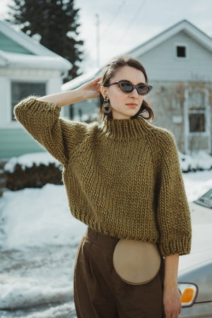 Image of Strathcona Sweater (shown in Lichen, more colours)