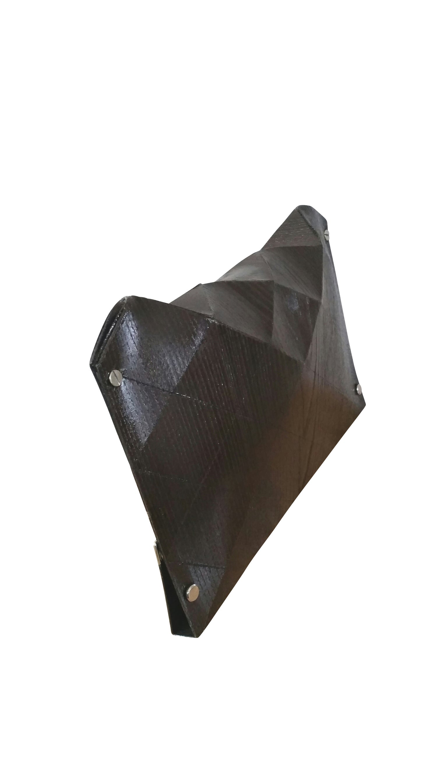 Image of ORIGAMI CLUTCH IN WOOD - CHESTNUT