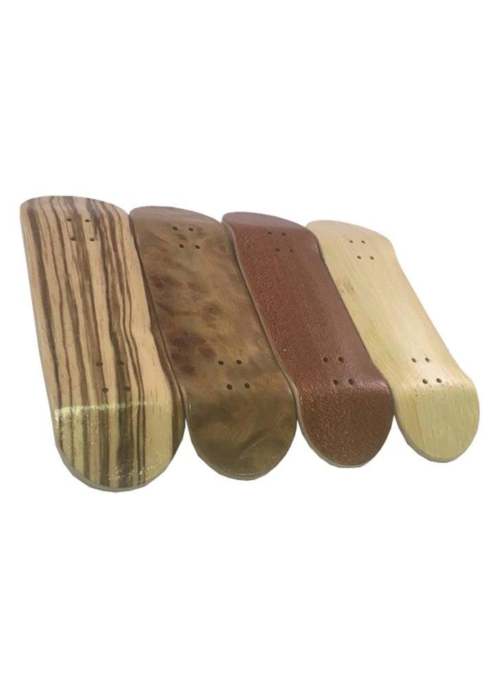 Image of FBUK Fingerboard Black Exotic Deck - 30mm