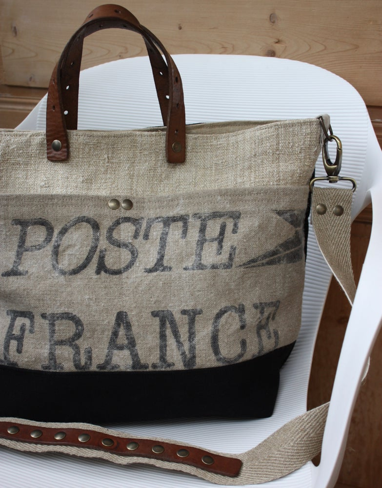 Image of Sac poste & military black.