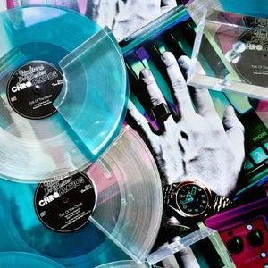 "Image of CHROMATICS ""Tick Of The Clock"" On 180 Gram Ultra Clear Dipped In Icy Blue"