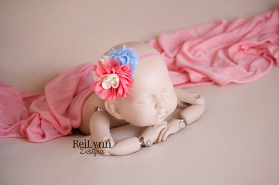 Image of Sophia Cluster Newborn Headband