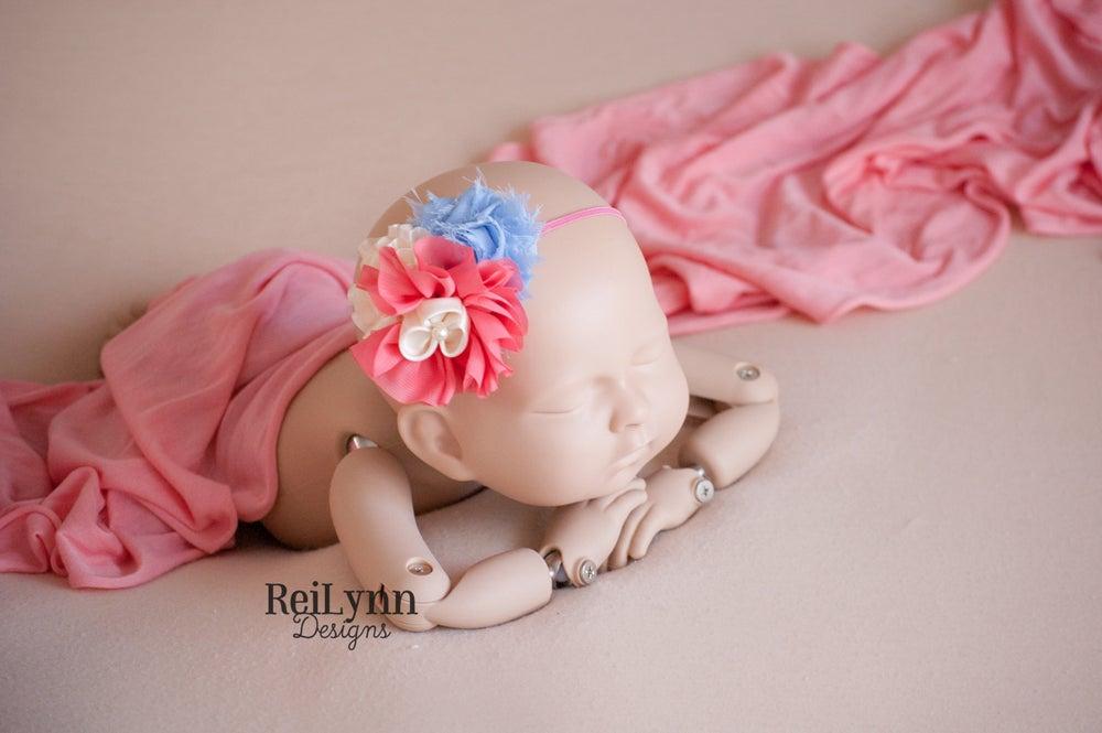 Image of Sophia Cluster Newborn Headband
