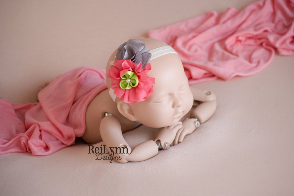Image of Mia Cluster Newborn Headband