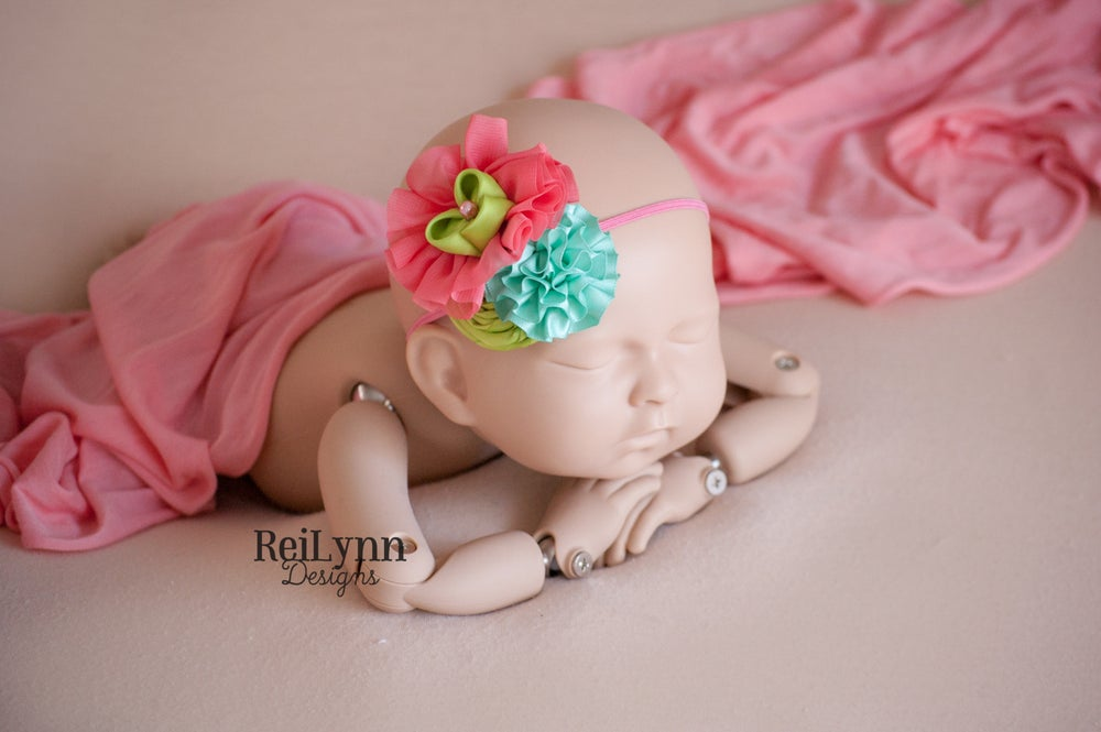 Image of Zoe Cluster Newborn Headband