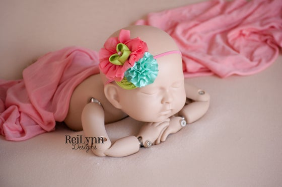 Image of Zoe Cluster Newborn Headband