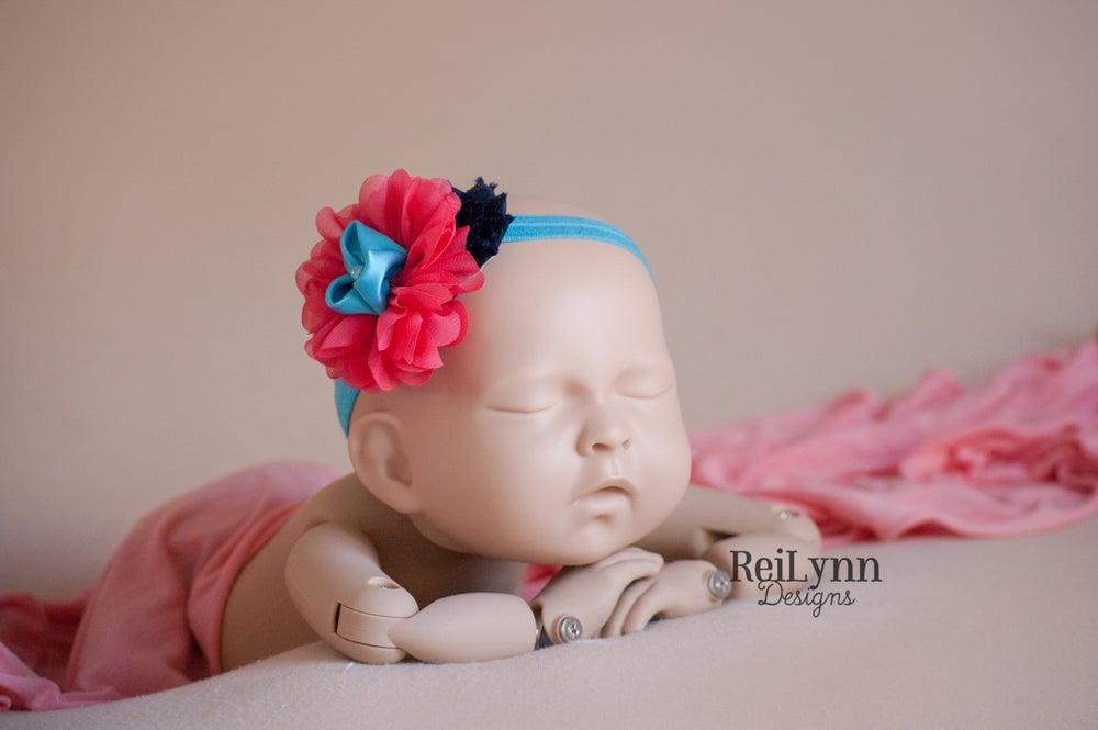 Image of Elena Cluster Newborn Headband