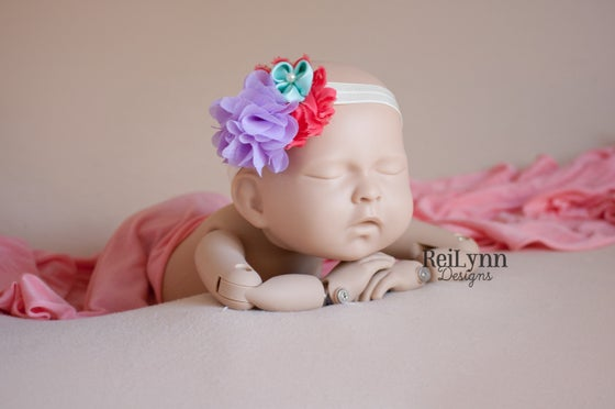 Image of Madison Cluster Newborn Headband