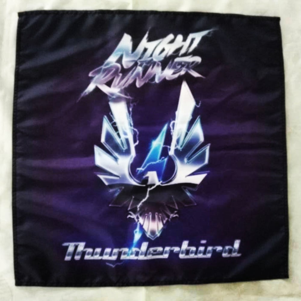 Image of Night Runner: Thunderbird Deluxe Limited Edtion Blue/Grey w/ black splatter 100 copies