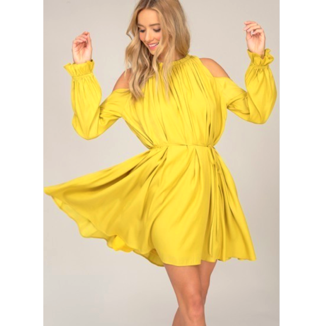 Image of Megan Cold Shoulder Dress