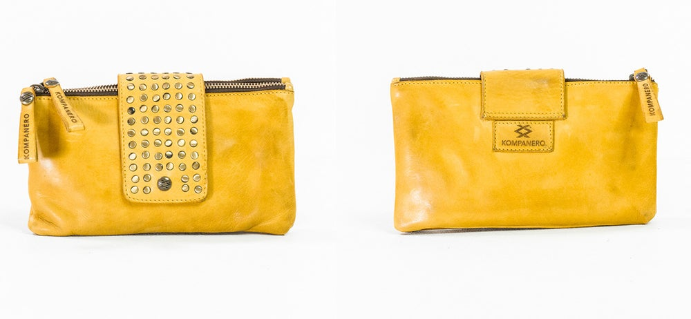 Image of Kompanero Fluer Clutch Bag Lemon
