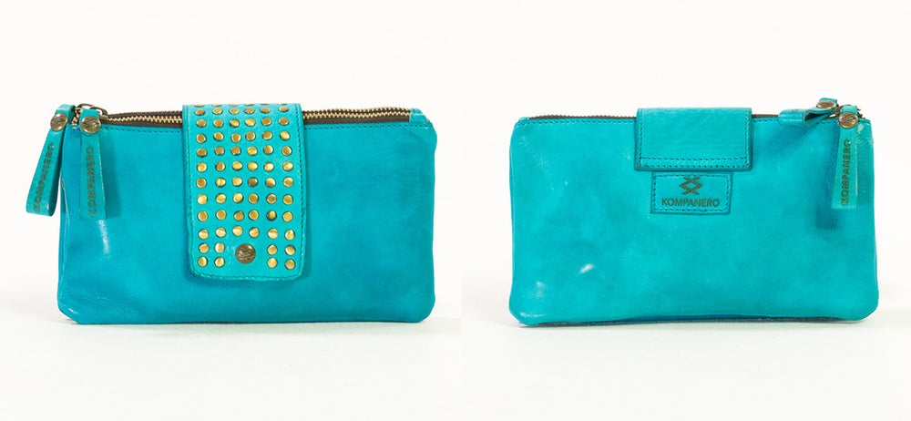 Image of Kompanero Fluer Clutch Bag Turquoise