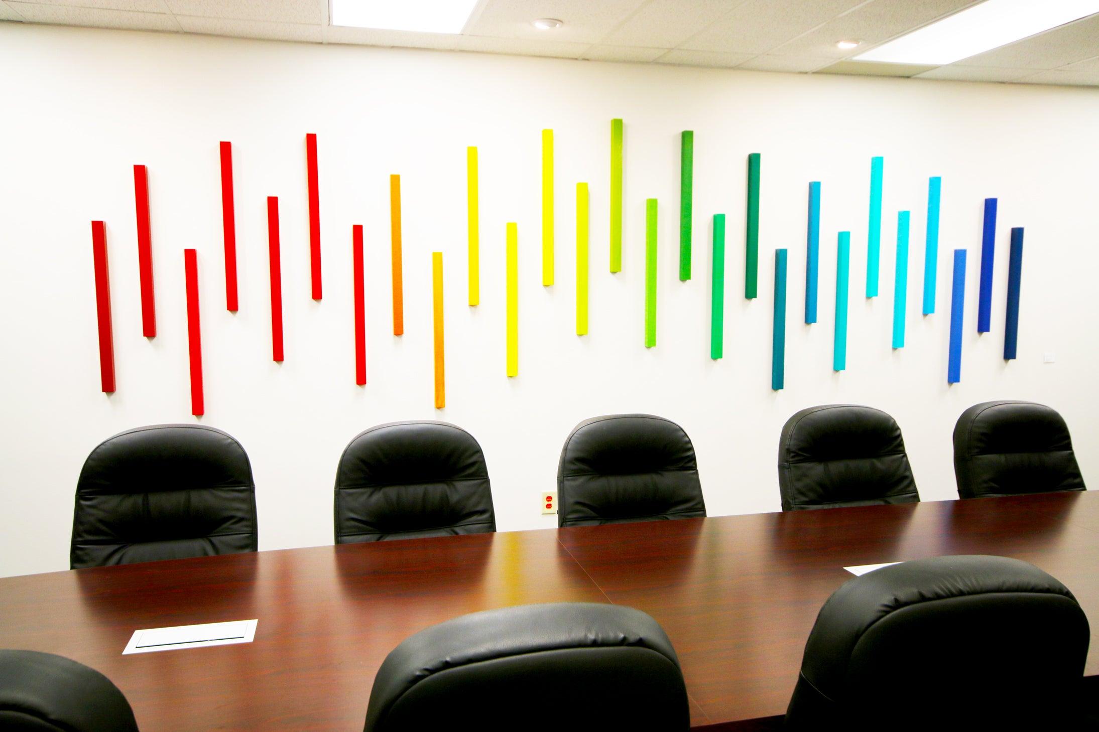 wall art office. Image Of Corporate Art | 3D Wall Sculpture Ombre Office Artwork