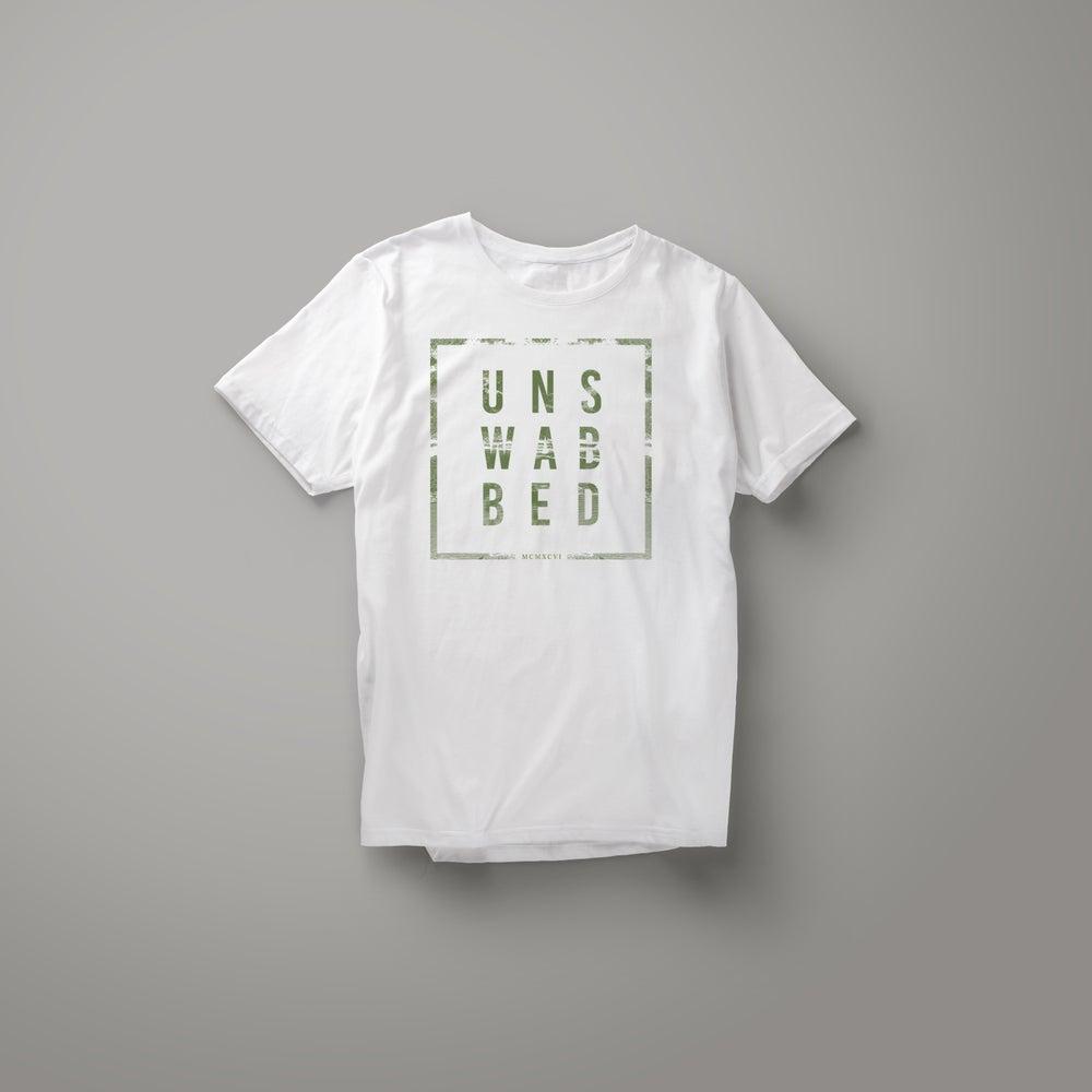 Image of T-Shirt Blanc/kaki - Unswabbed Modèles Homme ou Femme
