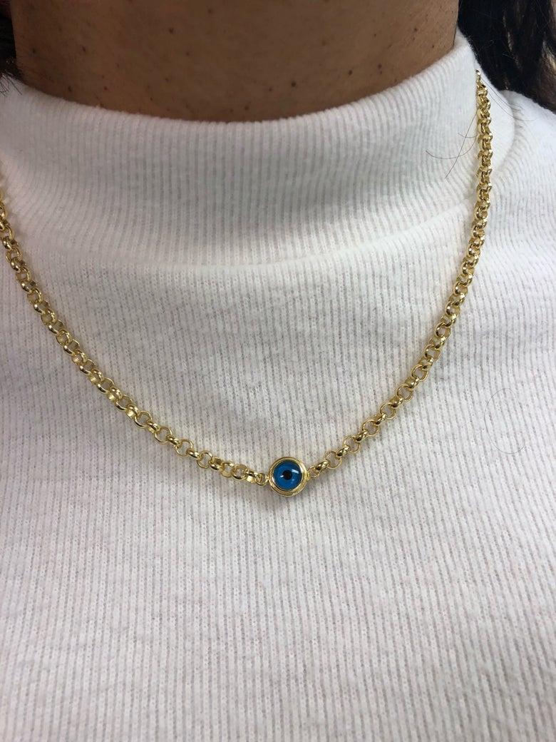 Image of Blue evil Eye necklace