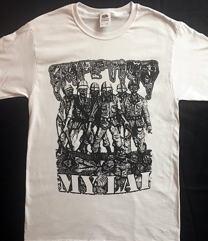"Image of Impetigo "" My Lai "" White T shirt"
