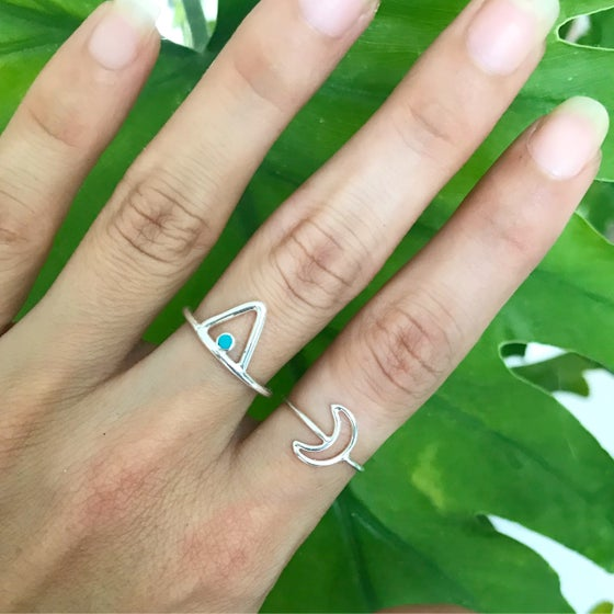 Image of Sterling silver luna love ring