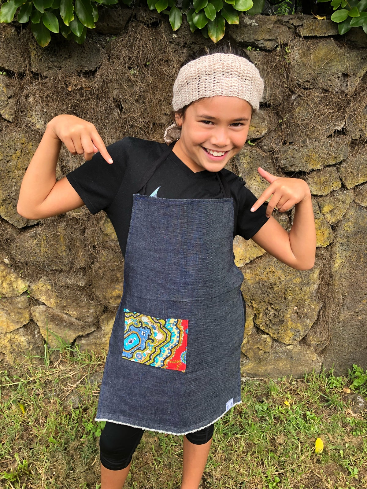 Image of Sustainable Kids Apron - Retro Pocket