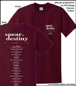 Image of SPEAR of DESTINY est.1983 Range Maroon T-Shirt