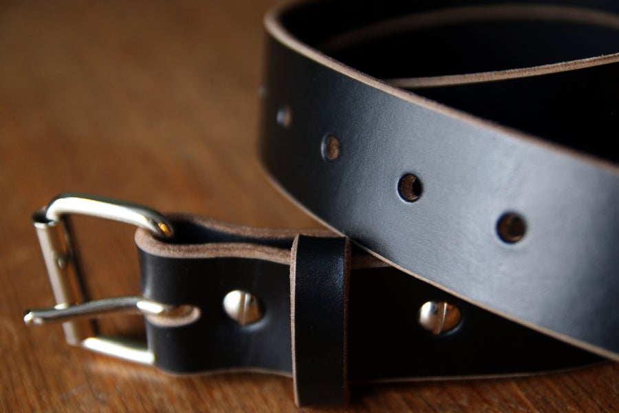 Image of Made to Measure Belt in Black Horween Chromexcel