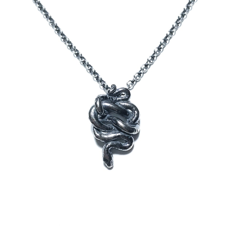 Image of Little Snake necklace in sterling silver