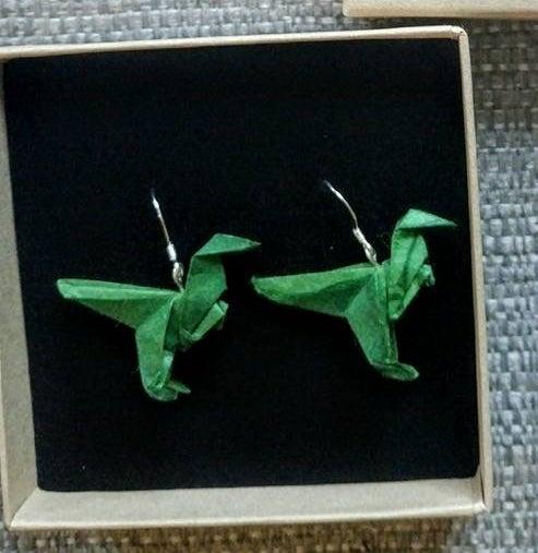 Image of Green Dinosaur Earrings