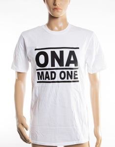 Image of The 'OnaMadOne' WHITE (&Black) Tee
