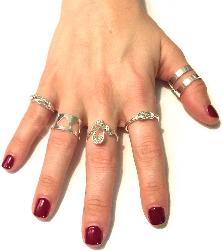 Image of 5 pc Trendy Ring Set
