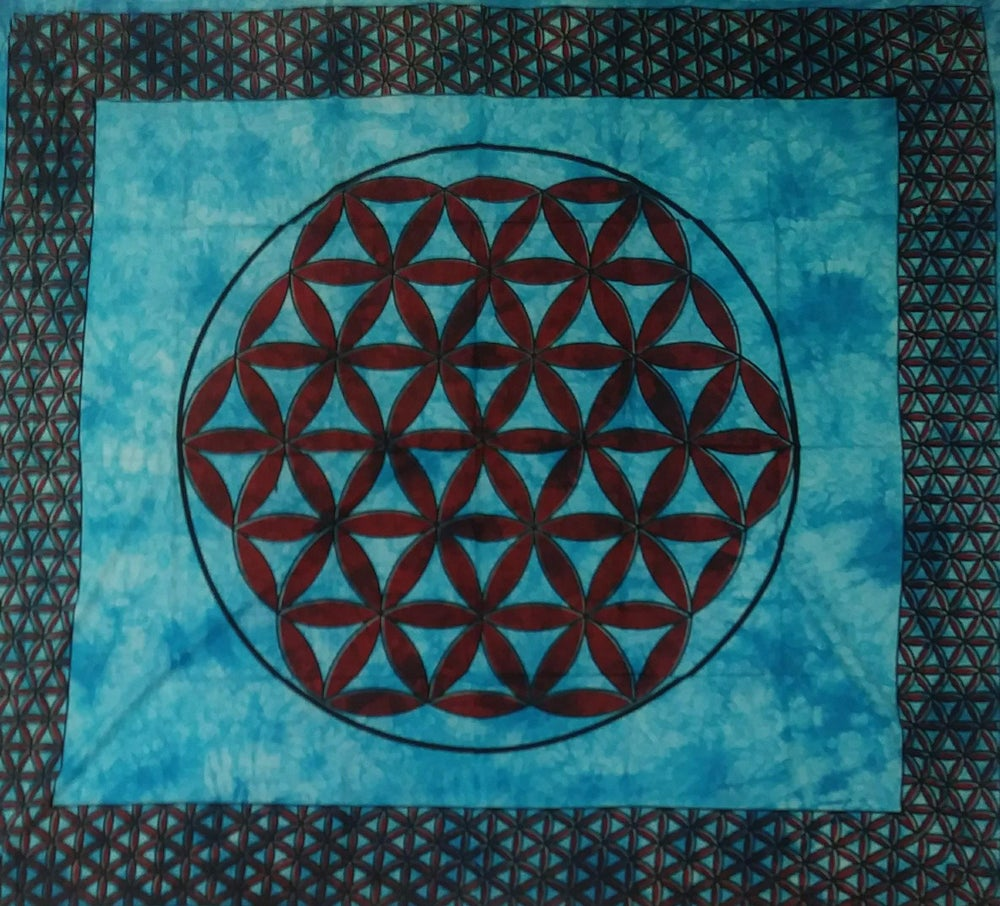 Image of Flower of Life Tapestry