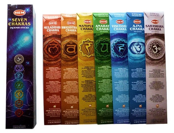 Image of Seven Chakras Incense Sticks