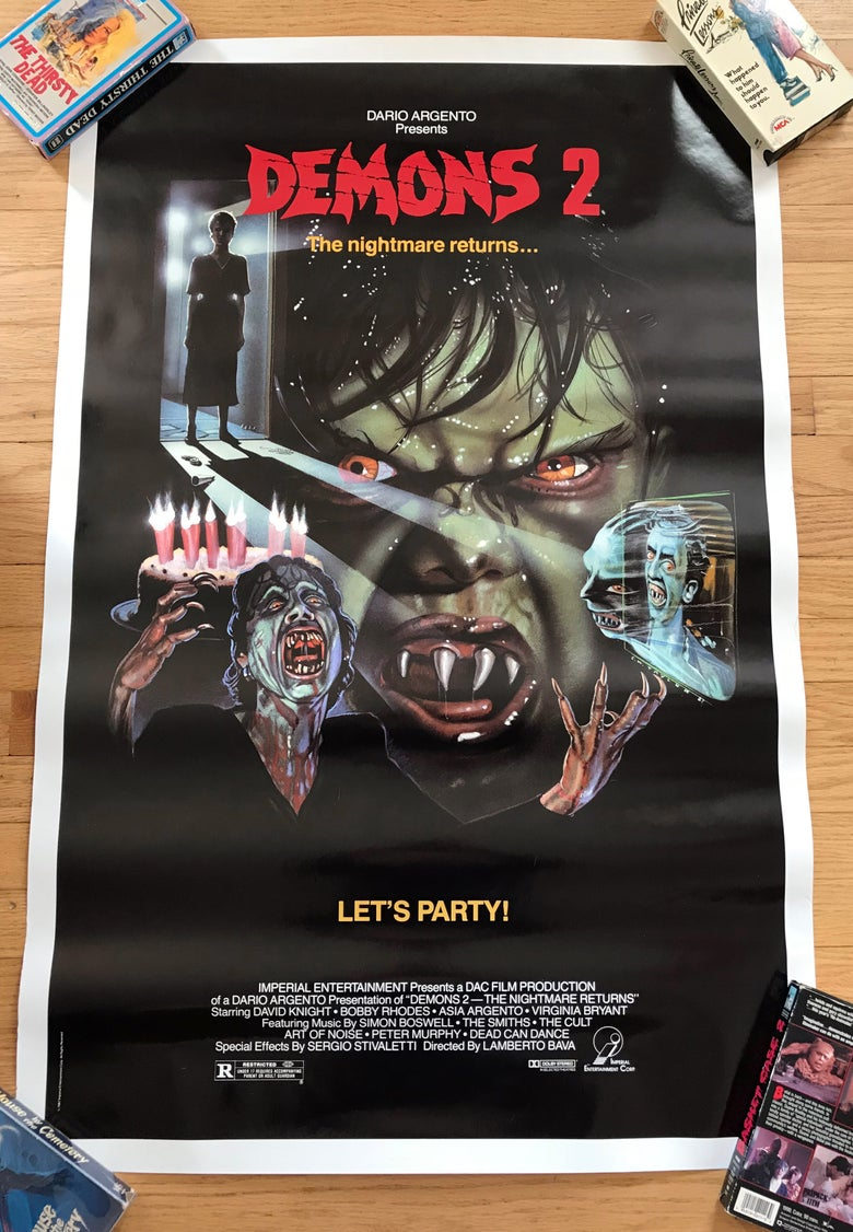 Image of 1986 DEMONS 2 Original U.S. One Sheet Movie Poster