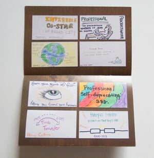 Image of Professional Amateur Business Cards Book