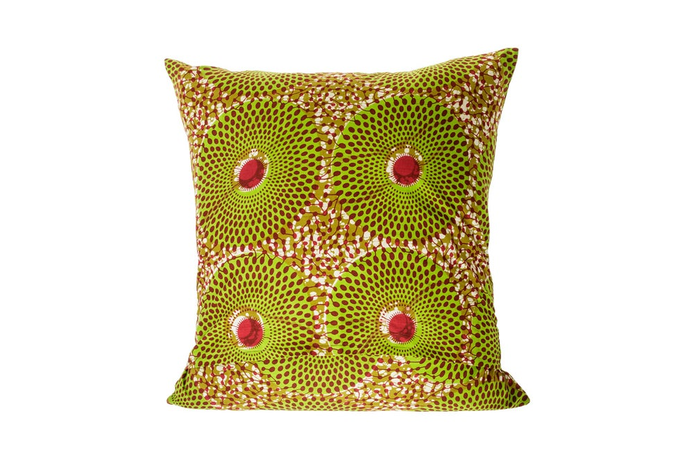 Image of African wax print green - cushion cover