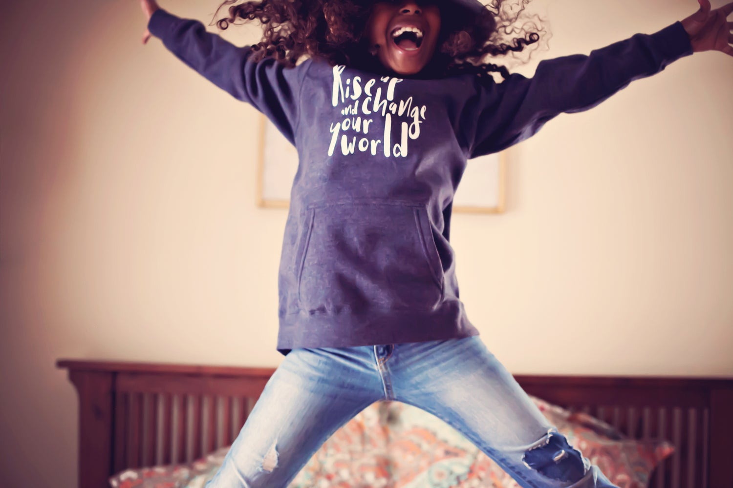 Image of Rise up & change your world children's hoodie