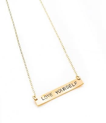 Image of LOVE Notes Necklace - Gold