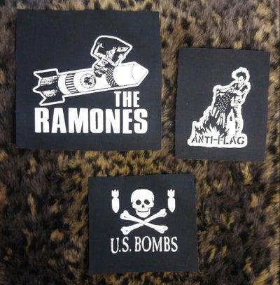 Image of Pick 1 patch - Ramones, Anti-Flag, U.S. Bombs