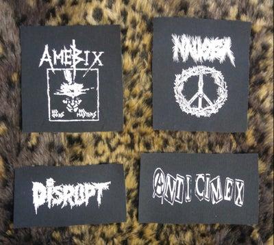 Image of Pick 1 patch - Nausea, Amebix, Disrupt, Anti-Cimex