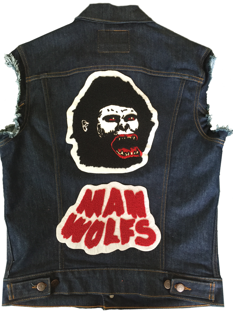 Image of MANWOLFS CHENILLE EMBROIDERED BACK PATCH