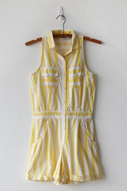 Image of SOLD Sunny Stripes Pocket Romper