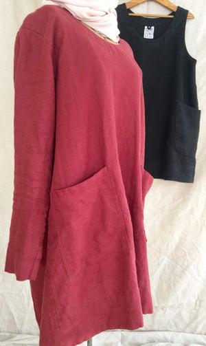 Image of linen sleeveless tunic
