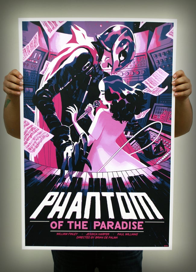 Image of Phantom of the Paradise AP screenprint