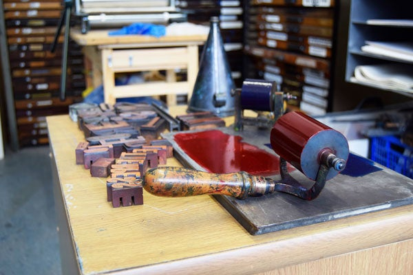 Image of Introduction to Letterpress. Wed. March 28th. 2018. I day class. £75.00